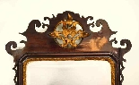 Antique George III Mahogany Parcel Gilt Wall Mirror-0