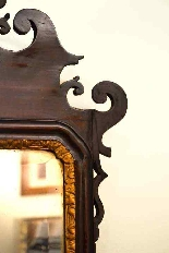 Antique George III Mahogany Parcel Gilt Wall Mirror-3