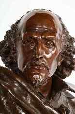 Raro busto in bronzo francese di William Shakespeare di Carr-15