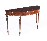 Antique Pair Edwardian Mahogany Console Side Tables 19th C-1