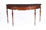 Antique Pair Edwardian Mahogany Console Side Tables 19th C-3