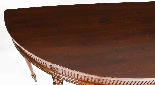 Antique Pair Edwardian Mahogany Console Side Tables 19th C-4