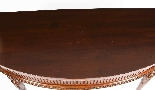 Antique Pair Edwardian Mahogany Console Side Tables 19th C-5