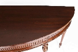 Antique Pair Edwardian Mahogany Console Side Tables 19th C-6