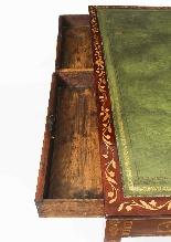 Scrivania da tavolo antica in mogano della biblioteca di Gio-1