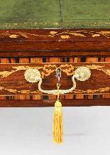 Scrivania da tavolo antica in mogano della biblioteca di Gio-3
