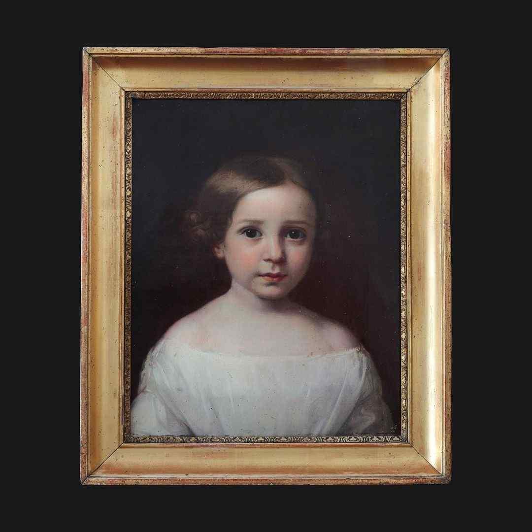 Portrait of a Child in white dress