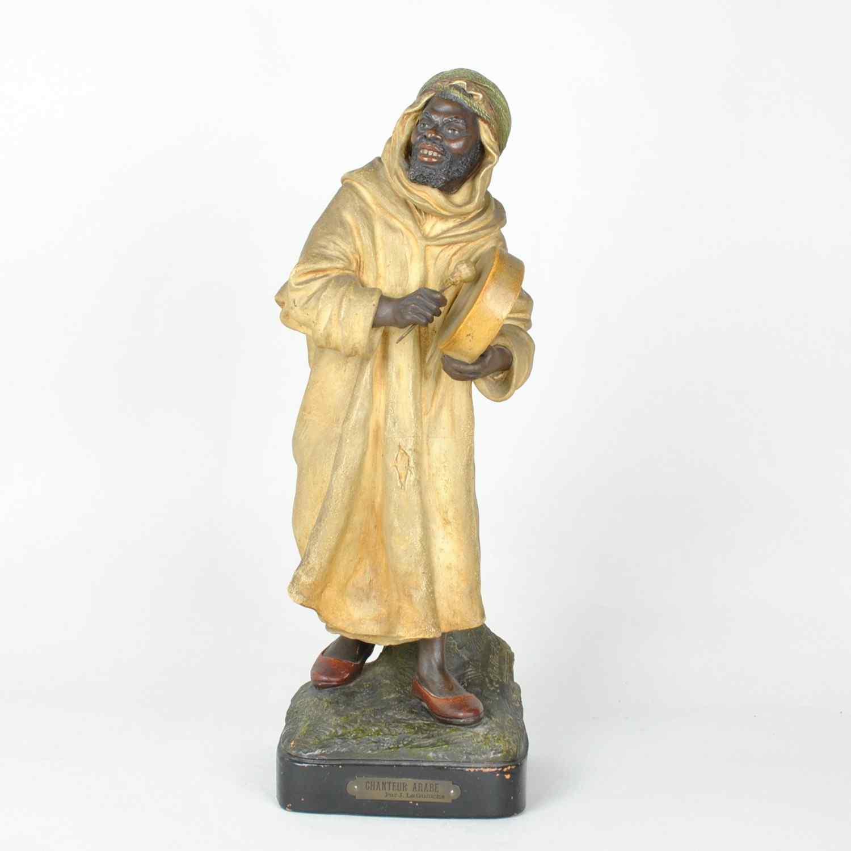 Le Guluche, il cantante arabo, terracotta orientalista, vent