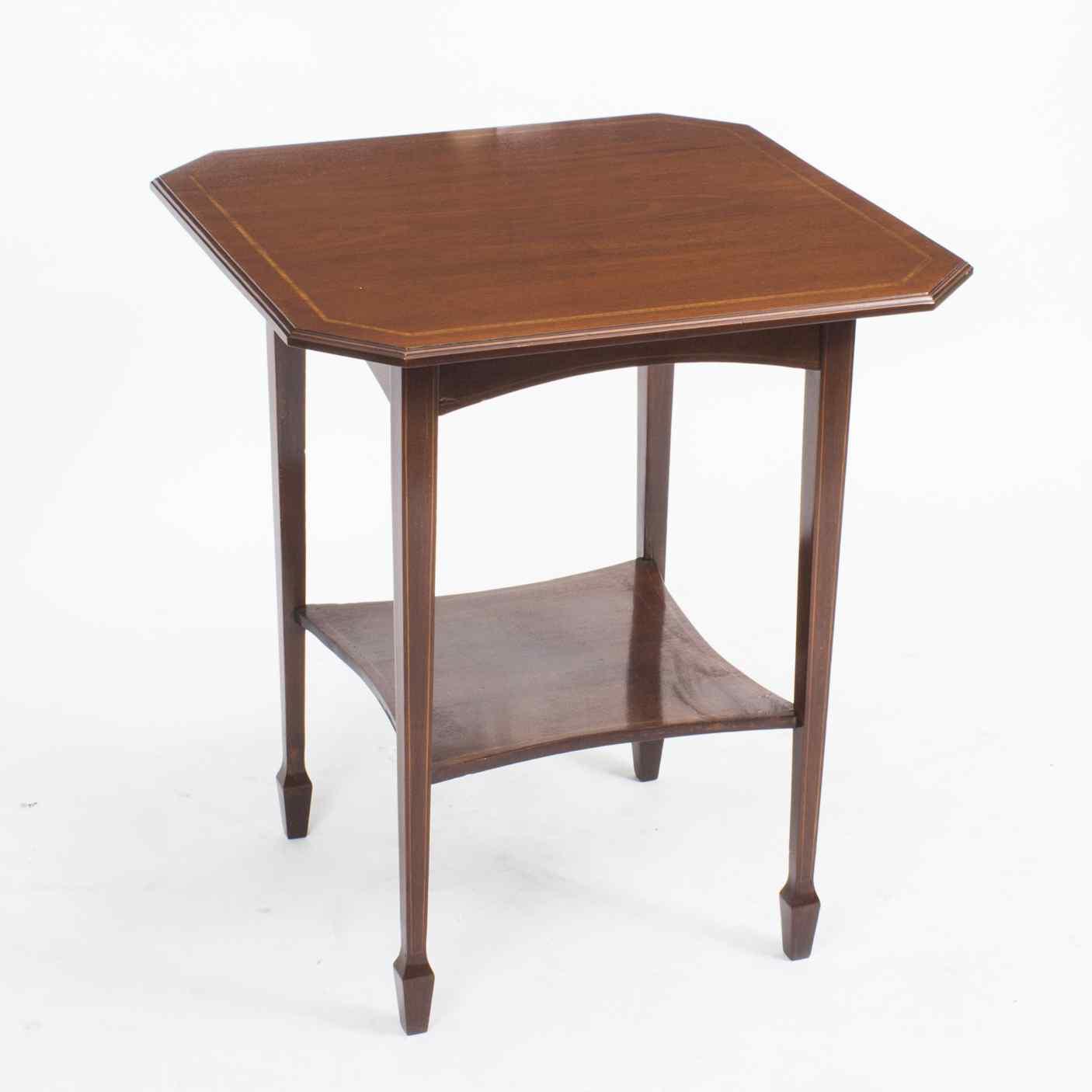 Antique Inlaid Mahogany Edwardian Occasional Table c.1900