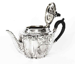 Set da tè con cassa placcato argento antico Walker & Hall XI-4