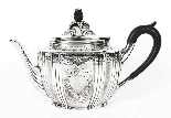 Set da tè con cassa placcato argento antico Walker & Hall XI-5