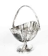 Set da tè con cassa placcato argento antico Walker & Hall XI-7