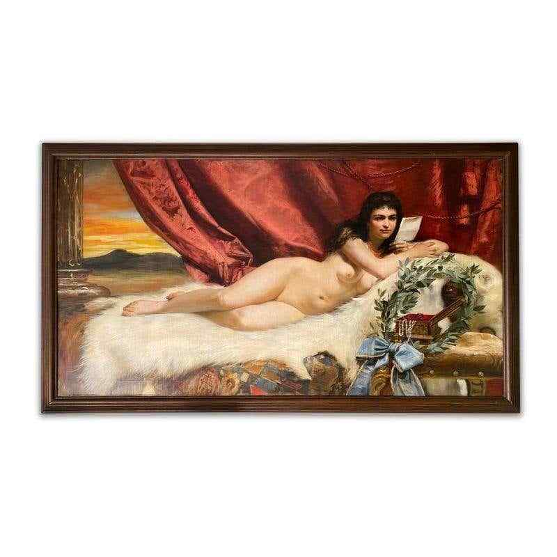 Adolf Pirsch (1858-1929 austriaco) monumentale olio su tela