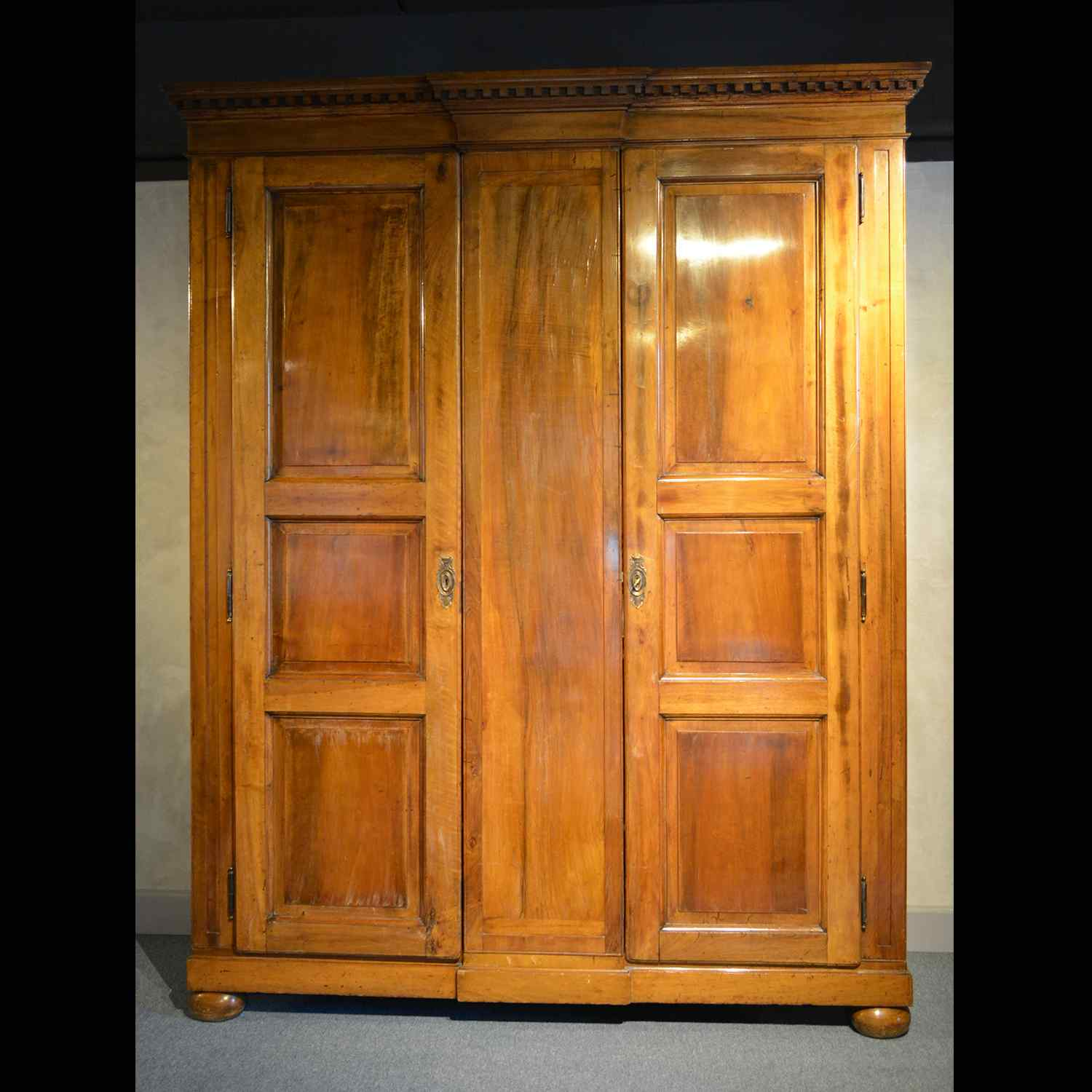 19th century walnut wardrobe