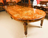 Bespoke Marquetry Dining Table & 14 Antique Dining Chairs-0