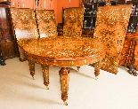 Bespoke Marquetry Dining Table & 14 Antique Dining Chairs-4