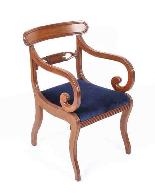 Bespoke Marquetry Dining Table & 14 Antique Dining Chairs-7
