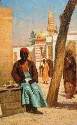 Un eccezionale dipinto a olio orientalista