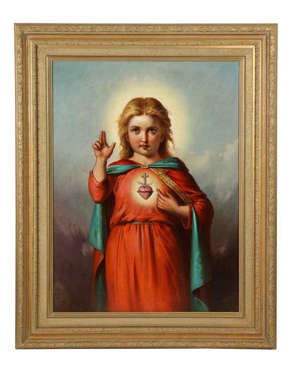 École américaine, (19e siècle) Jésus-Christ en tant que bébé