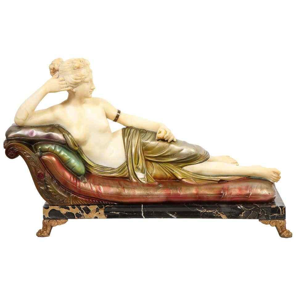 Eccezionale scultura italiana di Paulina Bonaparte Borghese