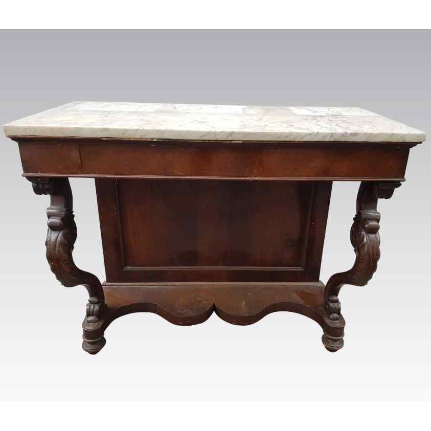 Table console en noyer Luigi Filippo