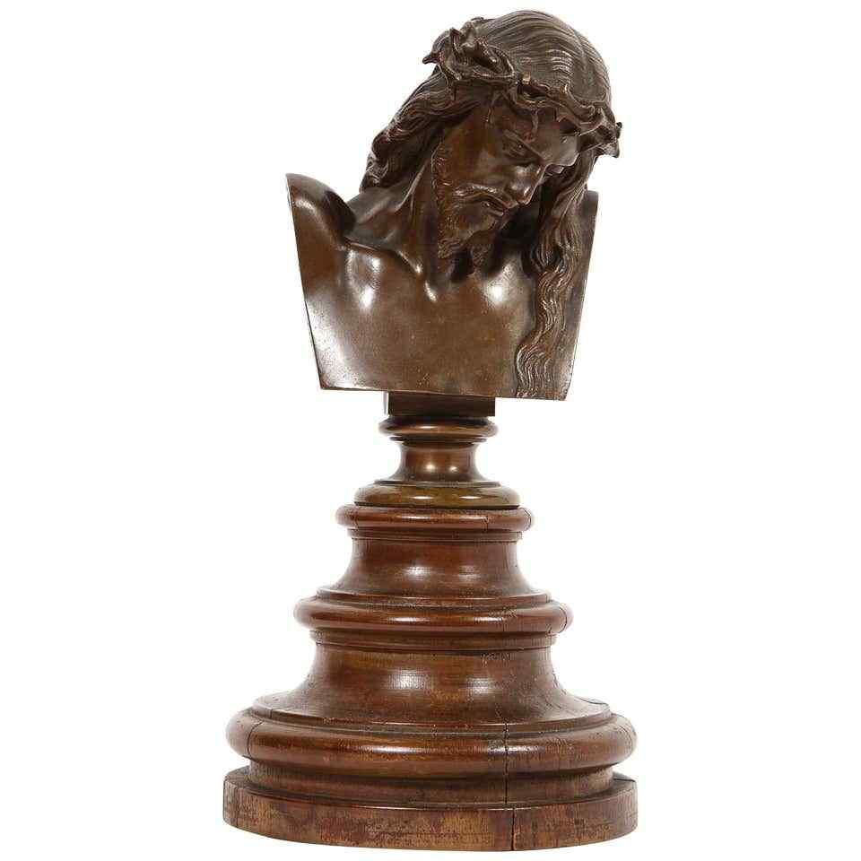 Jean-Baptiste Auguste Clesinger, busto di bronzo francese di