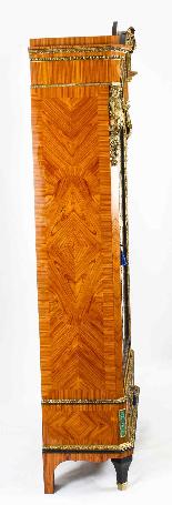 Mobiletto antico francese in legno di malachite e vitello Or-6