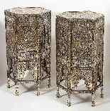 Eccezionale coppia di islamici Mamluk Revival argento intars-18