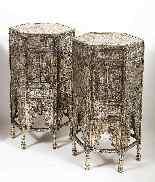 Eccezionale coppia di islamici Mamluk Revival argento intars-12