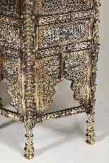 Eccezionale coppia di islamici Mamluk Revival argento intars-1