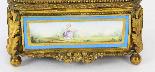 Cofanetto antico in porcellana di Sevres e Ormolu, XIX sec-6