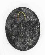 Antica targa in marmo con profilo dell'imperatore romano Cla-2
