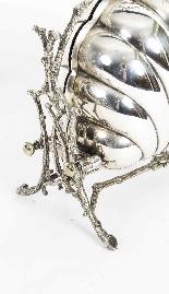 Biscottiera antica vittoriana placcata in argento Fenton Bro-2
