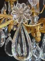 Lustre français en bronze doré par Maison Baguès-2