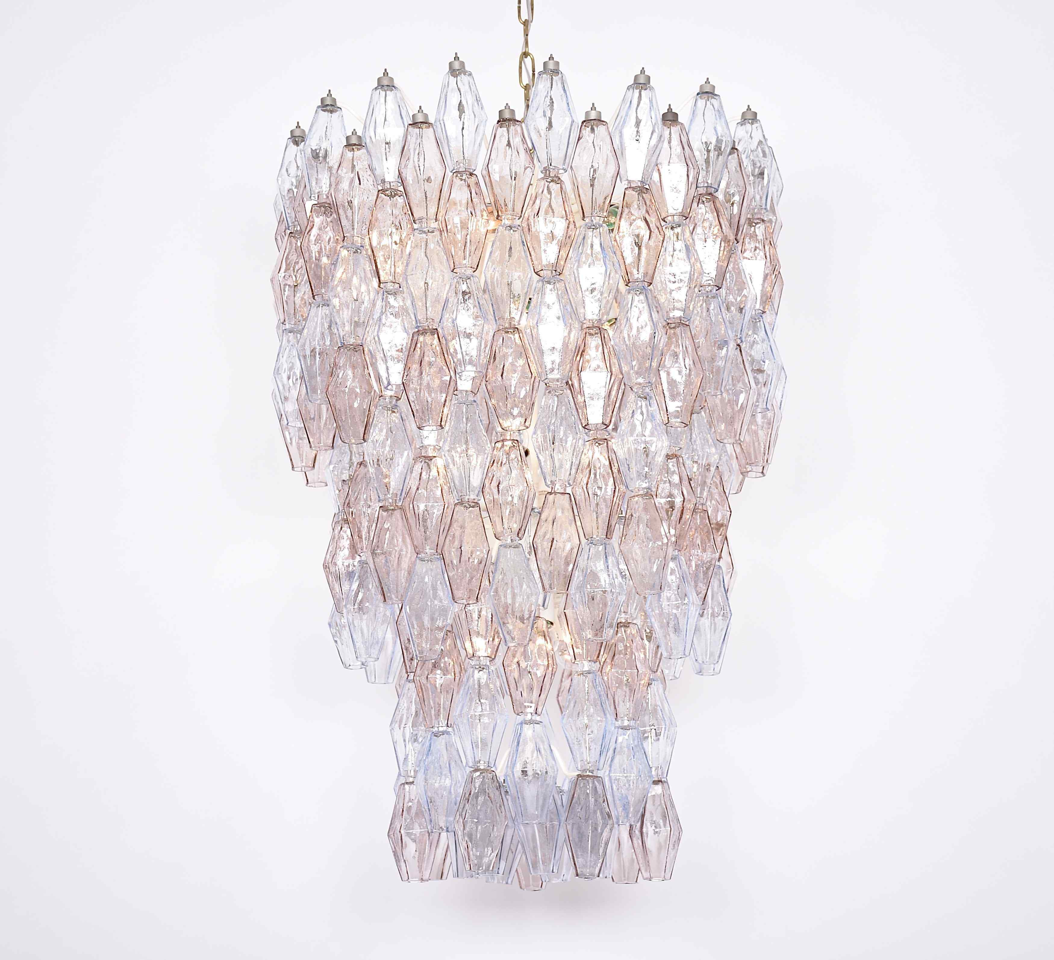 Large Murano chandelier by Carlo Scarpa for Venini