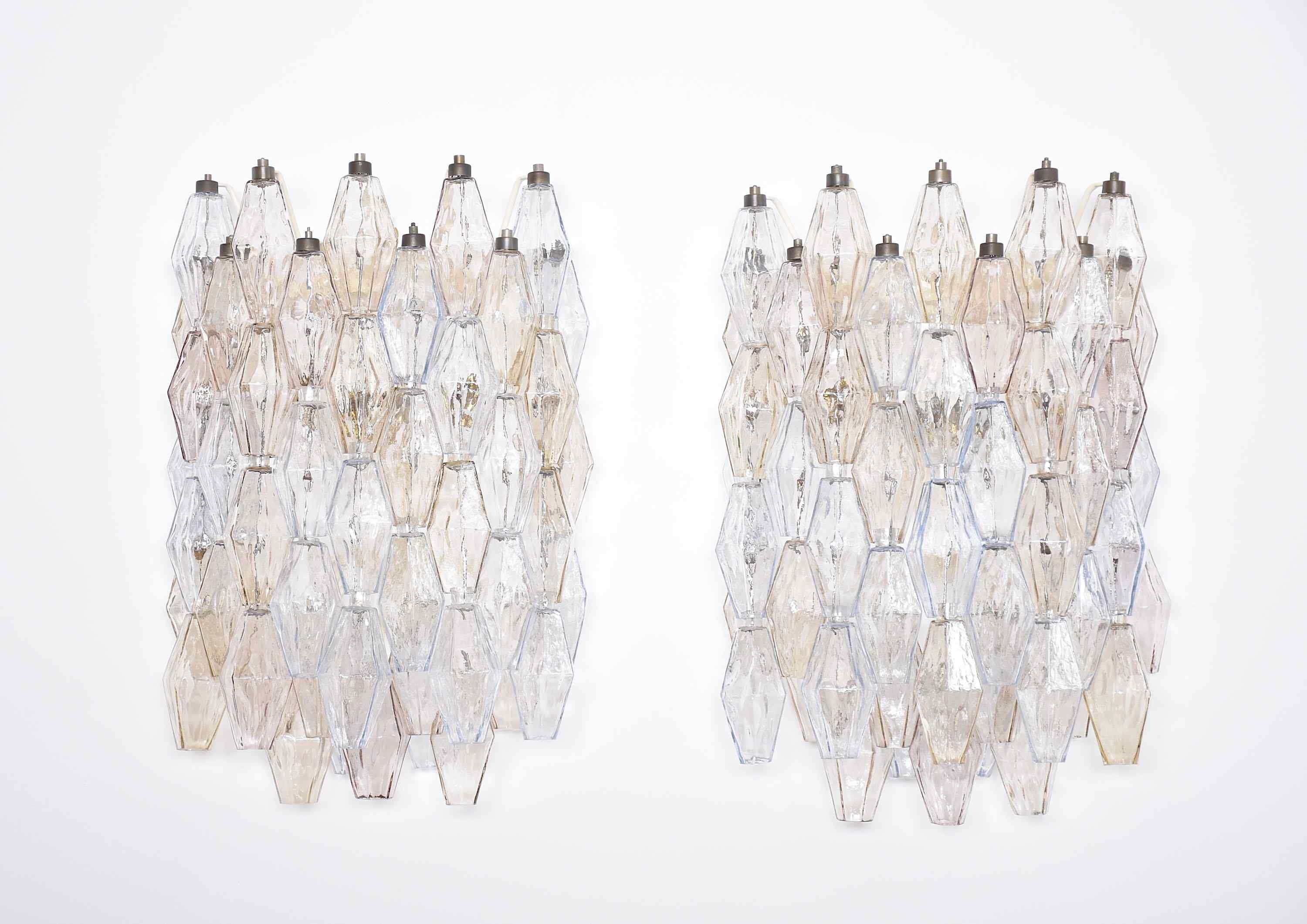 A pair of large wall lights/ sconces by Venini Murano