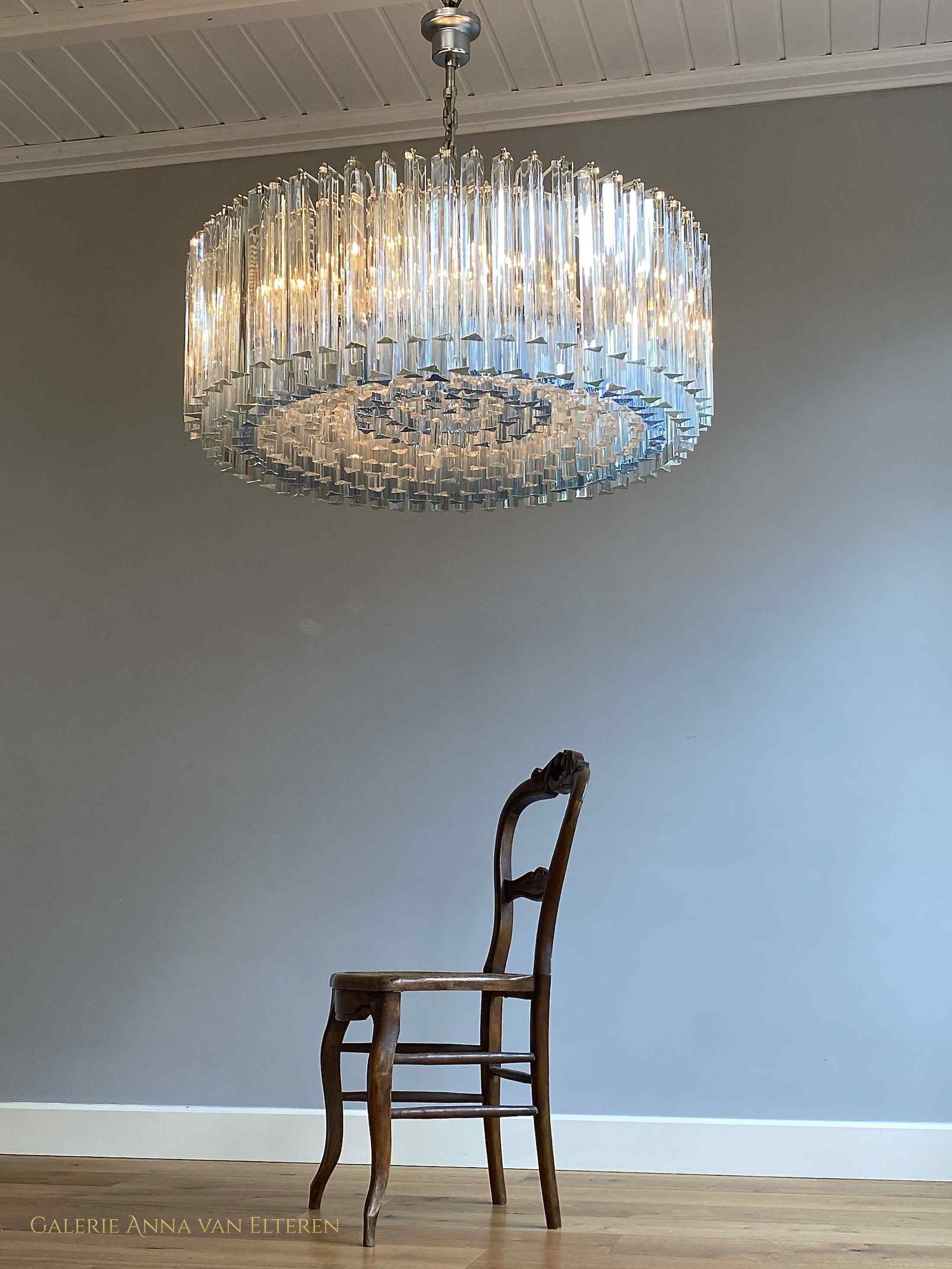 Large Murano chandelier by Venini