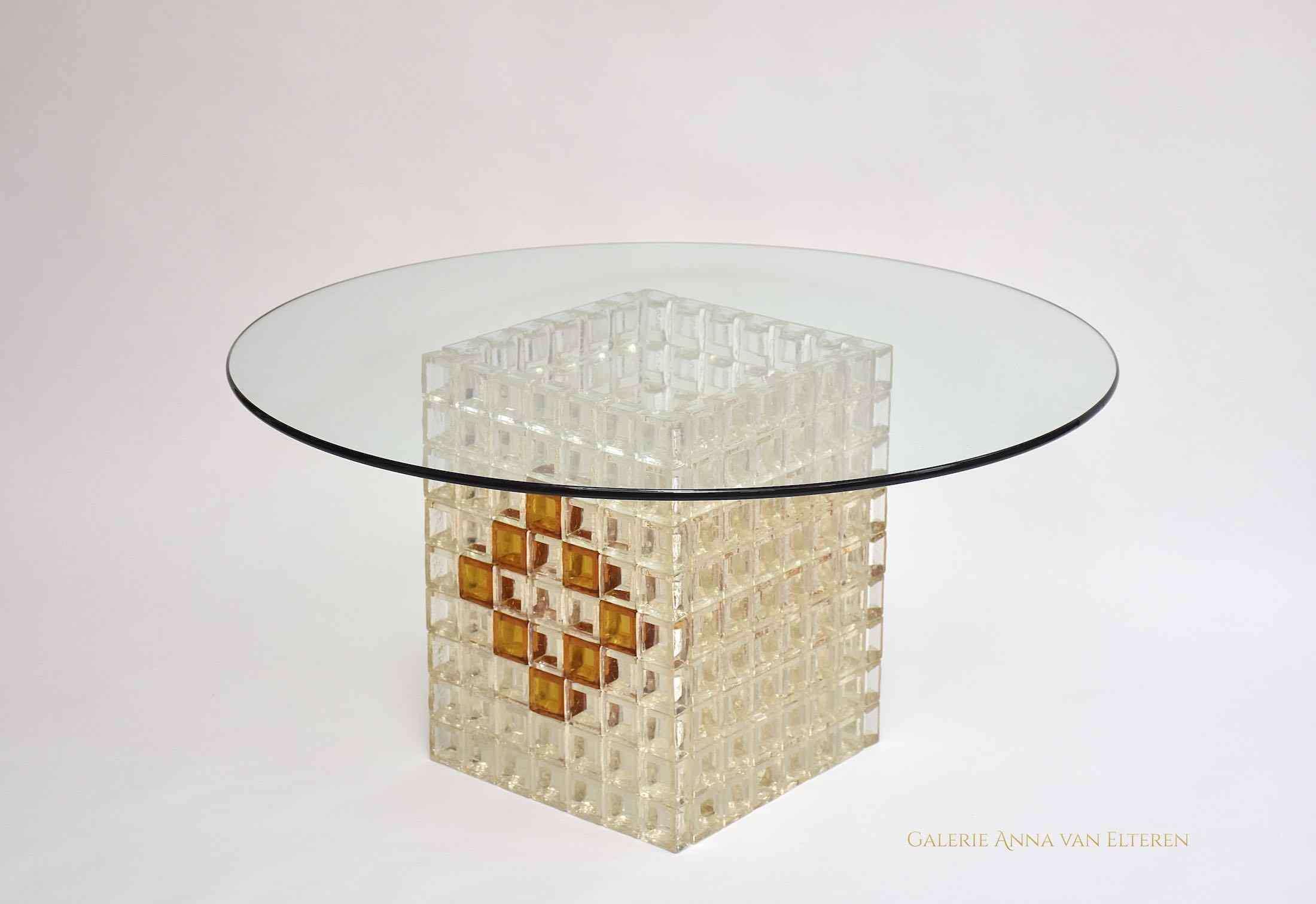 Mid-century Murano coffee table by Poliarte