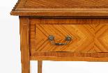 Tavolino antico vittoriano in legno satinato del XIX secolo-3