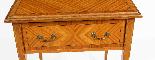Tavolino antico vittoriano in legno satinato del XIX secolo-2