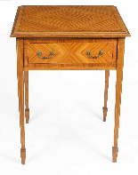 Tavolino antico vittoriano in legno satinato del XIX secolo-0