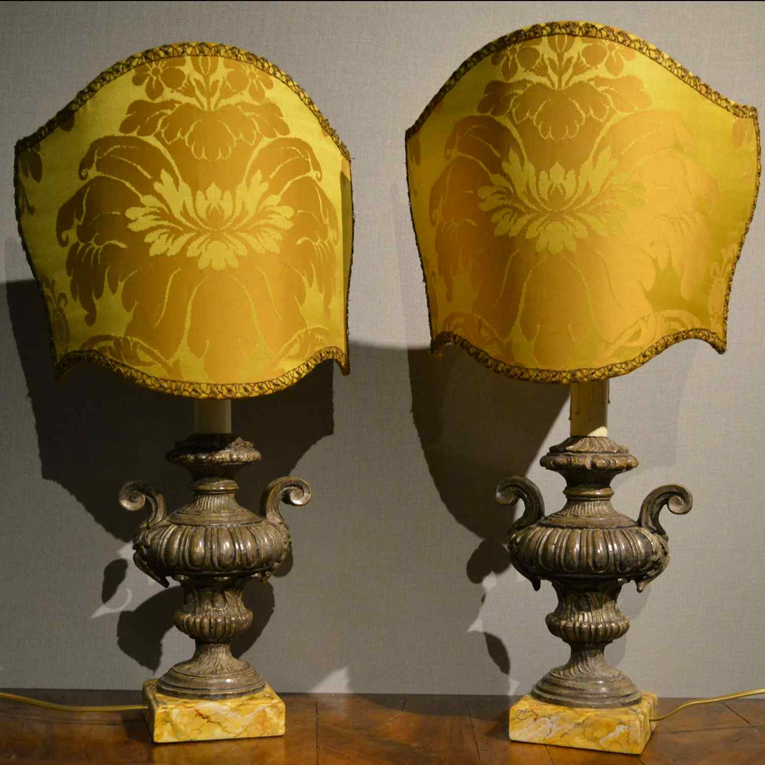 Pair of antique table lamps