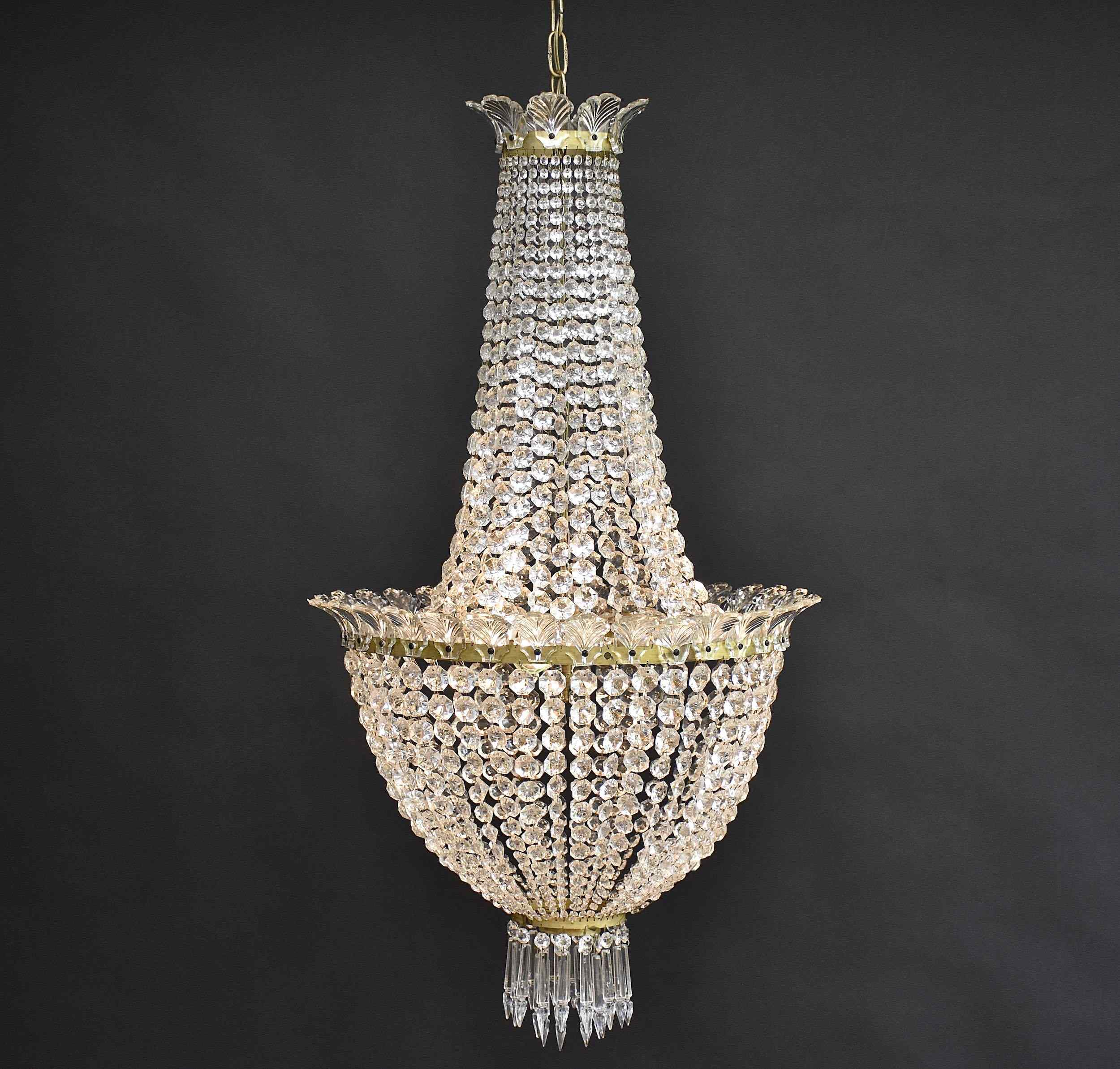 Empire style antique chandelier with 3 light