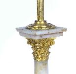 Lampada da tavolo antica vittoriana Ormolu onice colonna cor-2