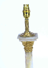 Lampada da tavolo antica vittoriana Ormolu onice colonna cor-3
