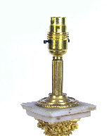 Lampada da tavolo antica vittoriana Ormolu onice colonna cor-4