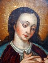 Vergine del latte, scuola ispano-fiamminga del XIV secolo-4