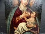 Vergine del latte, scuola ispano-fiamminga del XIV secolo-5