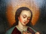 Vergine del latte, scuola ispano-fiamminga del XIV secolo-8