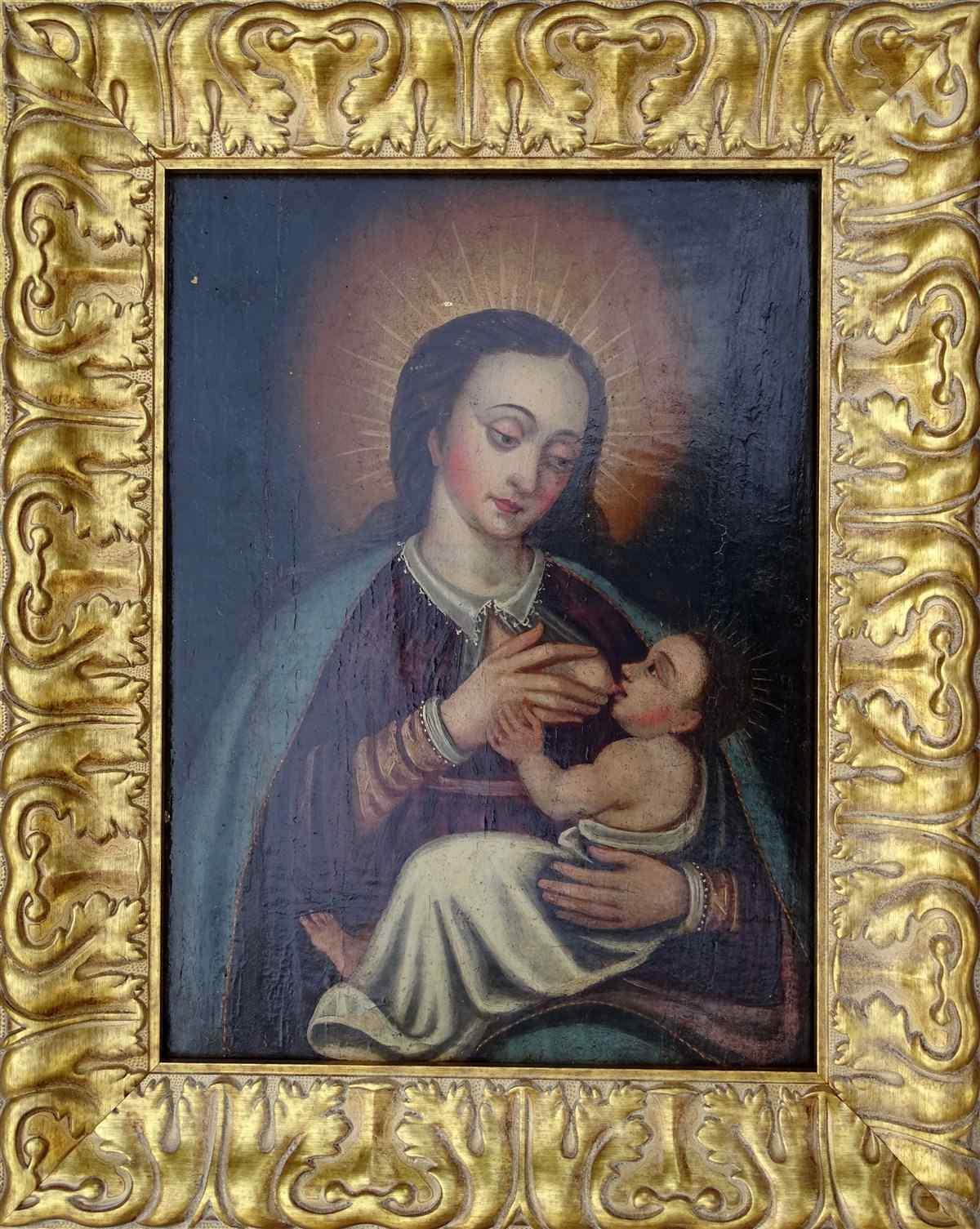 Vergine del latte, scuola ispano-fiamminga del XIV secolo